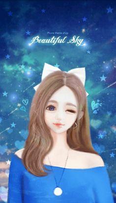 Cartoon Girl Images, Cute Cartoon Girl, Anime Girl Cute, Anime Art Girl, Cartoon Art, Cute Girl Hd Wallpaper, Cute Wallpapers, Manga 3d, Anime Maid