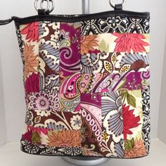 "Vera Bradley tote bag purse Pretty multi colored floral handbag in good condition, very spacious & clean inside & out. 13""tall, 13.5"" across, strap drop 11"", 4.5"" depth Vera Bradley Bags Totes"