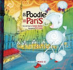 This book and CD chart a precocious poodle's hilarious wanderings to visit friends throughout the city of Paris. Vibrant colors pair with humor that will delight kids from Kindergarten to grade. Cd Chart, Paris, Funny Illustration, Illustrations, Old Love, Reading Levels, Nursery Rhymes, My Books, This Book