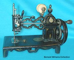 "Known as the ""closed tower"" type, this Shaw & Clark machine was produced in Biddeford, Maine, USA during the 1860's."