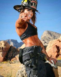 Her Story As A Firefighter Female Firefighter, Volunteer Firefighter, Cute Country Girl, Air Lounger, Outdoor Girls, Fit Girl, Warrior Girl, Military Women, Cute Girl Photo