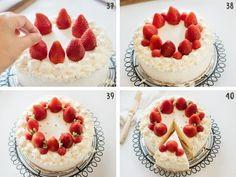 Strawberry Shortcake cake - Japanese version | Chopstick Chronicles Chocolate Terrine, Chocolate Flavors, Chocolate Desserts, Strawberry Birthday Cake, Japanese Sweet Potato, Candied Sweet Potatoes, American Desserts, Sweet Breakfast, Cake Tins