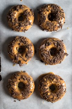 Banana bread doughnuts with an almond butter glaze