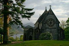 Glenfinnan church over looking Loch Shiel