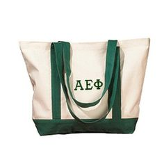 Summer or school ready, this boat tote can do it all.  Fill with beach necessities on the weekends, and notebooks during the week!  Available in your favorite colors, click through to Something Greek to check out this and all of your other sorority merchandise and clothing needs. Alpha Epsilon Phi, Greek Symbol, Custom Greek Apparel, Sorority Outfits, Greek Clothing, Sorority And Fraternity, Cotton Canvas, Screen Printing, Gym Bag