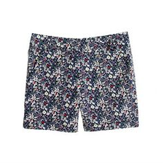 """Liberty 5"""" chino short in June's Meadow floral"""