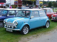 Austin Mini Cooper- Surf Blue. My dream car. =)