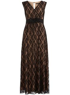 Black and nude lace maxi dress - Little Black Dresses - Dresses - Dorothy Perkins United States $95