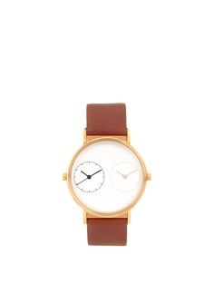 Click here to buy Kitmen Keung Long Distance 1.0 steel and leather watch at MATCHESFASHION.COM