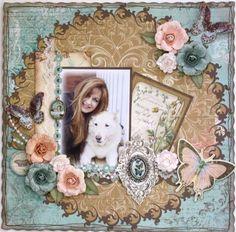Bo Bunny Scrapbook Layouts | Layout: Mocha ***Bo Bunny*** | Scrapbook Ideas