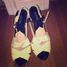 Heels Michael Kors black/white Michael Kors Shoes Heels