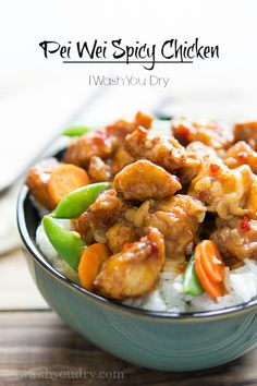 Lightly fried chicken pieces aretossed in a sweet and spicy sauce along with sugar snap peas and carrot slices. You'll love this Copycat Pei Wei Spicy Chicken recipe! I was standing in line among...