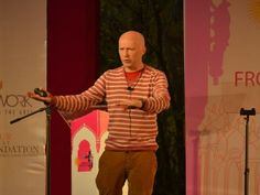 Mathematician Marcus du Sautoy speaks about 'Symmetry in Nature' at the Jaipur Literature Festival 2014, Jaipur, Rajasthan, India