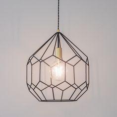 Black Geometric Frame Pendant Light Geometric Pendant Light, Cage Pendant Light, Industrial Pendant Lights, Modern Pendant Light, Ceiling Pendant, Lights Over Island, Bathroom Pendant Lighting, Hallway Lamp, Hallway Lighting