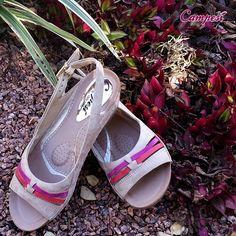 A gota massageadora no centro do pé é super relaxante! <3 #Campesí #Conforto #shoes #primaveraverão