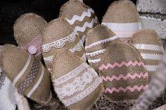 Burlap & Lace Easter Eggs