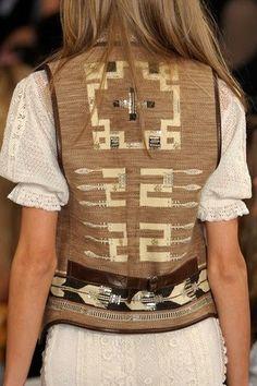 A southwestern style vest