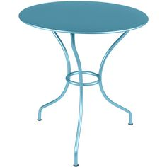 """Fermob Opera Round Table - 26"""" ($423) ❤ liked on Polyvore featuring home, outdoors, patio furniture, outdoor tables, round outdoor furniture, circular outdoor furniture, fermob garden furniture, round patio table and recycled patio furniture"""