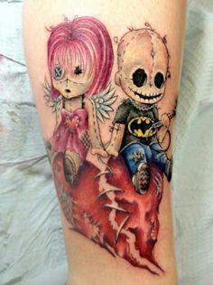 Amazing Creepy, Cute VooDoo Doll Tattoos!