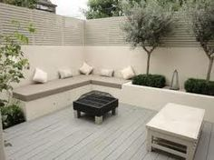 built in garden seating - Google Search