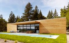Light wood - destined to age badly: Modern Pool House