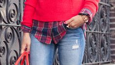 my Plaid Shoes!  paired with a cool pair of boyfriend jeans and an oversized sweater, classic pumps in a plaid pattern can look quite chic.