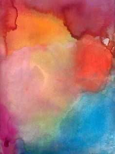 Gorgeous watercolor artist on ETSY! Doesn't this make you happy and energetic?! Abstract art print of original painting inspired by inner peace and happiness.    The original painting has been sold.    Paper size is 13 x 19