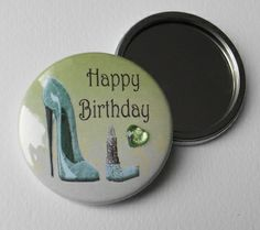 Featured Products - Birthday Embellished Pocket Mirror Favours with complementing colour organza pouch and gift tag