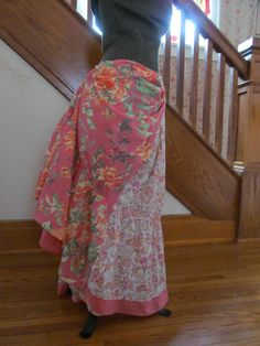 OOAK Tribal Style Belly Dance Skirt 33 Long Altered by GaleFridays