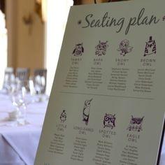 Owls table plan
