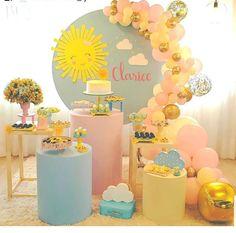 Baby Girl Birthday Theme, Birthday Bash, Fun Party Themes, Birthday Party Decorations, Sunshine Birthday Parties, Sunshine Baby Showers, Ballon Decorations, Baby Party, First Birthdays
