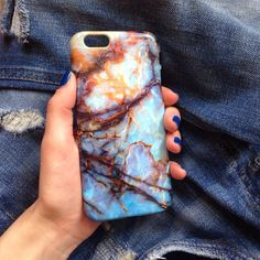 Blue marble iPhone Case iPhone 6 Plus Case Marble by iPhoneCaseUA