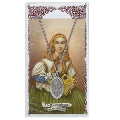 "Pewter St. Dymphna Medal & 18"" Chain, Prayer Card Set. Hail Mary Gifts,http://www.amazon.com/dp/B005RS586Q/ref=cm_sw_r_pi_dp_oEofsb1JF0XXMDSG"