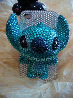 Charms Rhinestones Lovely Little Pet Animal Stitch Bling Shining Handmade Phone Case For AT Htc Vivid LTE / Raider 4G X710e. $35.99, via Etsy.