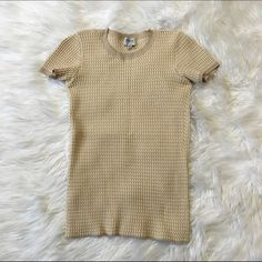 Armani Short Sleeved Top Gorgeous Armani fitted short sleeve top. Material is stretchy and super comfortable. In excellent condition! Armani Tops Tees - Short Sleeve