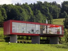 Recycled houses made using shipping containers   Designbuzz : Design ideas and concepts