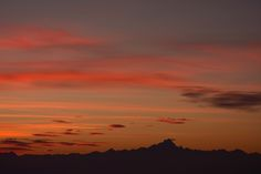 Sunset anyone? Monviso as seen from the Langhe