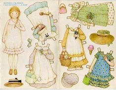 Holly Hobbie paper dolls! I had these too!!!! ♥.......I loved paper dolls when I was little!
