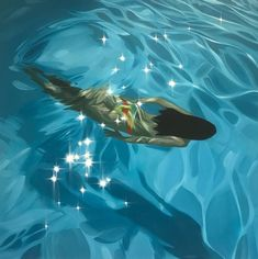 Website page for Artist Benjamin Anderson's SWIM series Arabian Art, Figure Painting, Summer Vibes, Underwater, Cool Pictures, Concept Art, Pyrography Ideas, Illustration Art, Sketches
