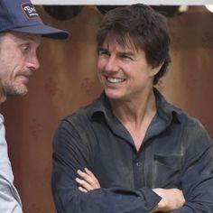 Tom and Wade Eastwood #tomcruise#wadeeastwood #cruiser#forever #themummy #themummyreboot #stuntman #movie #set#smile#