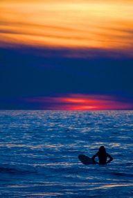 #surfer #beach #sunset #wave