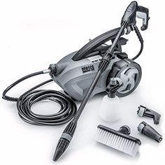 Pressure Washers - THE FORCE 1800  POWERHOUSE INTERNATIONAL  PULL BEHIND  16 GPM 1800 PSI 2600 PSI  IPB Electric Pressure Washer with 20 Foot Quick Connect Hose 3 Different Nozzles Nylon Brush Soap dispenser and TSS Gun ** More info could be found at the image url. (This is an Amazon affiliate link)