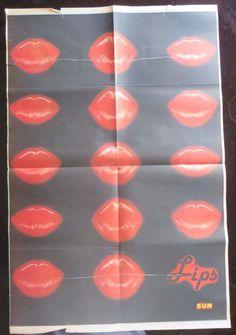 Original Wall Decor Bollywood magazine sun Filmy Poster unframed XL  IMAGE LIPS #SunMagazine #Vintage