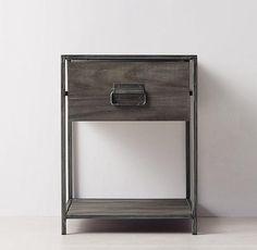 Wexler Brushed Grey Nightstand