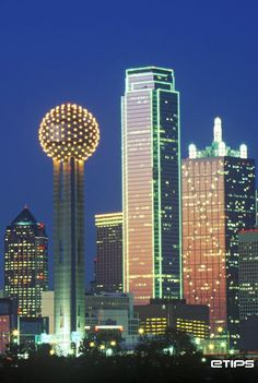 Dallas Skyline and The Renaissance Tower | by eTips Travel Apps http://www.etips.com/