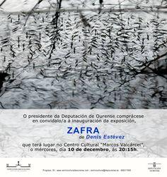 """""""Zafra"""" de Denís Estévez. Do 10 de decembro ao 11 de xaneiro"""