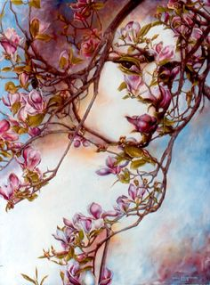 "Druids Trees:  ""Magnolias,"" by Eric Montoya."