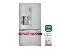 LG LFX25991ST: Ultra-Large Capacity Counter Depth 3 Door French Door Refrigerator with Smart Cooling Plus | LG USA