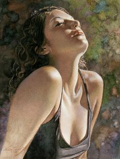 """It Starts With A Dream"" by Steve Hanks, watercolor on Aquabord"