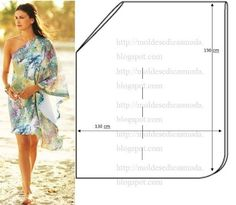 One Shoulder Drape Dress Pattern